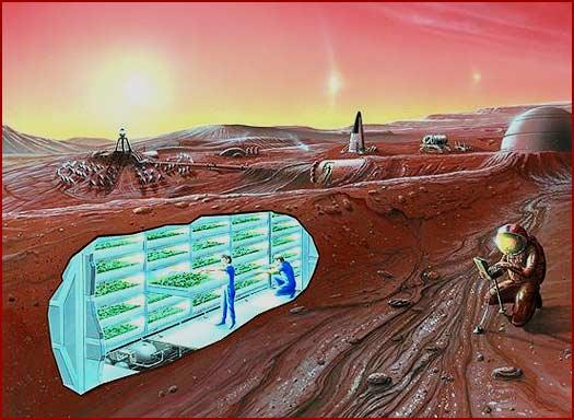 mars underground base