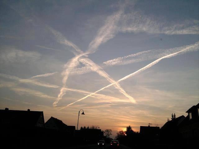 chemtrail pentagram