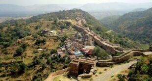 Aerial view of Kumbhalgarh