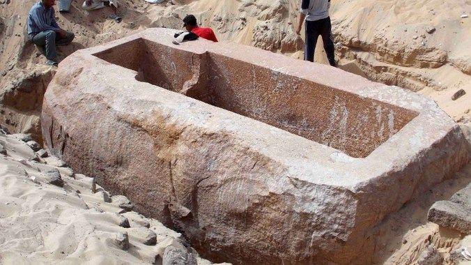 ancient huge sarcophagus